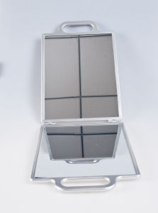 Silver Double Sided Mirror with Handle pictures & photos