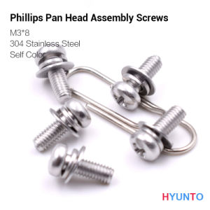M3*8/Phillips Pan Head Assembly Screw with Self Color