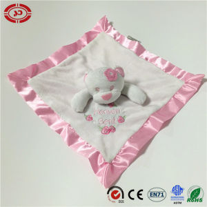 Custom Type with Ribbon Under Side Soft Baby Care Blanket pictures & photos