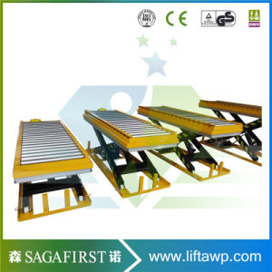 Wood Factory Use Stationary Hydraulic Scissor Lift Table with Roller pictures & photos