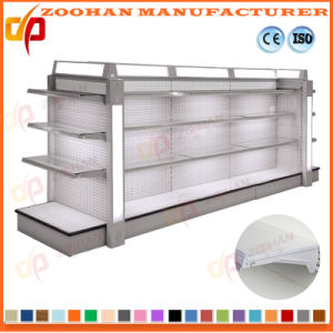 High Quality Double Sides Supermarket Display Shelf with Light Box (Zhs655) pictures & photos