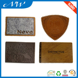 Custom Your Own Logo Embossed Leather Patch for Jeans pictures & photos