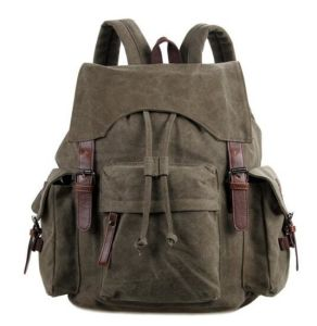 New Unisex Canvas Backpack School Bag Sh-16061646 pictures & photos