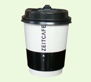 8oz Heat Insulated Double Wall Coffee Cups with Lids pictures & photos