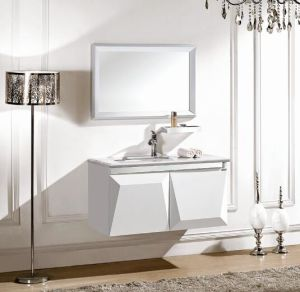 Modern Solid Wood Bathroom Cabinet pictures & photos