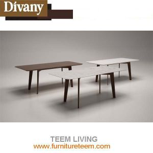 Modern Dining Room Square Wooden High Glossy Table pictures & photos