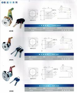 Safe Lock, Safe Cylinder Lock, Al-201L pictures & photos