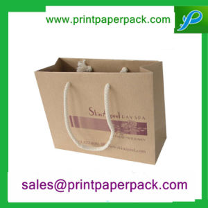Low Cost Custom Kraft Paper Bag with Logo Print pictures & photos