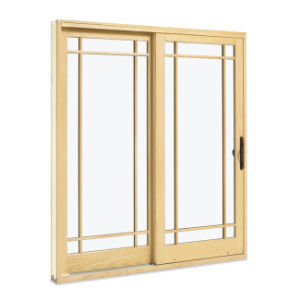 French Style PVC Sliding Door with Grill