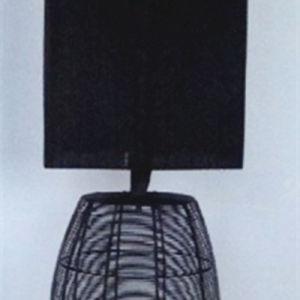 Hotel Decorative Black Organza Fabric Shade Bedside Table Lamp pictures & photos