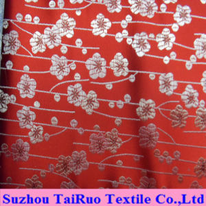 Polyester Silk Satin with Embroidered for Curtain and Bedsheet pictures & photos