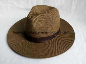 90% Paper 10%Polyester Brown Color Safari Hats