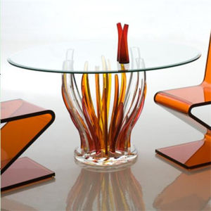 Hot Sale Home Furniture Glass Dining Table