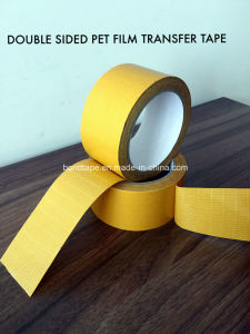 Double Sided Pet Film Scrim Solvent Acrylic Adhesive Tape pictures & photos