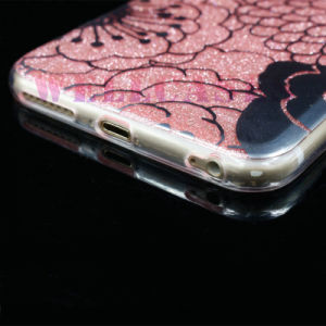 Customized IMD Treatment Painting Flower TPU Powder Cover/Case for iPhone 5/6/6p pictures & photos