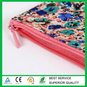 Organic Cotton Zipper Pouch with Full Color Printing Wholesale pictures & photos