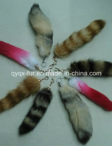 30-40cm Natural Color Fox Tail Fur Keychain / Fox Fur Tail pictures & photos