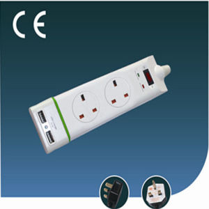 Two Ways British Electrical Socket with USB and Switch