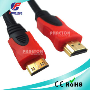 1080P Mini HDMI Cable Golded Plated Plug with Ferrite (pH6-1219) pictures & photos