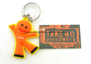 Customized Logo Rubber Name Keychains pictures & photos