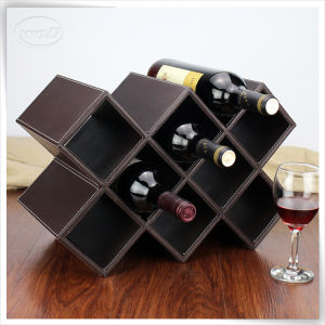 Red Leather Wine Rack for Horel