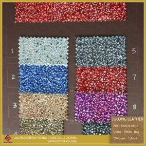 Shiny Fashion Hot Sale Glitter PU Leather for Shoe (SP052) pictures & photos