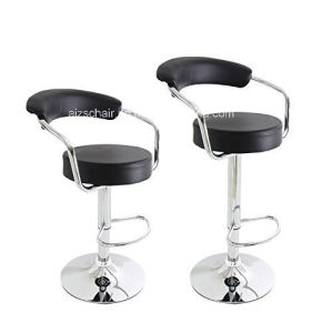 Decenthome Leather Cushioned 360 Degree Swivel Curved Back Adjustable Barstool Chairs Zs-501 pictures & photos