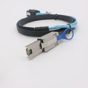 Mini Sas Sff-8088 to 4*180 Degree 7p SATA Cable pictures & photos