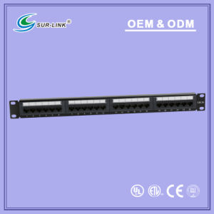 UTP Cat5e Dual IDC 24 Ports Back Bar Patch Panel pictures & photos