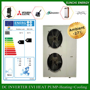 Netherland/Austria Cold -20c Winter Heating 100~300sq Meter House +Dhw 12kw/19kw/35kw Evi DC Inverter Heat Pump for Floor Heat pictures & photos