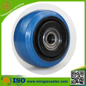 100mm Elastic Blue Rubber Wheel pictures & photos