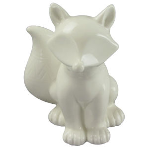 Animal Shapedceramic Craft, Standing The Dog with White Glaze pictures & photos