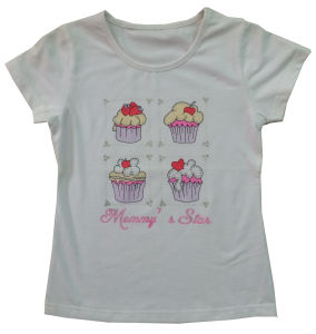 Good Quality Kids Children Custom Printed Cake T-Shirt (SGT-027) pictures & photos