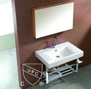 Cupc Approved Porcelain Cabinet Basin for Bathroom (SN1538-60) pictures & photos