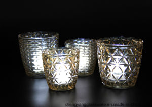 Hot Sale Daily Use Glass Candle Jar with Home Decor pictures & photos
