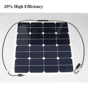 50W 12V Sun Power Cell Semi Flexible Panneau Solaire pictures & photos