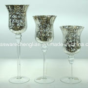 Electroplating Glass Hurricane Candle Holders (ZT-104) pictures & photos