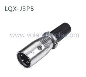 Competitive Audio Connectors 3-Pin Male XLR Connector with RoHS pictures & photos