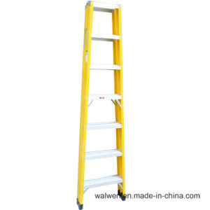 a Frame 6 Step Foldable Agility Household Fiberglass Ladder pictures & photos