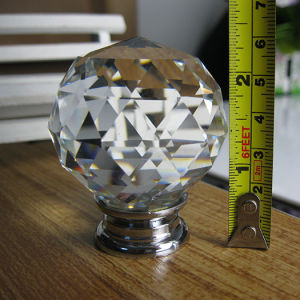 Big Dia. 50mm Clear White Crystal Glass Ball Door Knob in Chrome pictures & photos