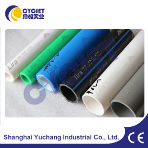 Flying CO2 Laser Marking Machine on PVC Pipe pictures & photos