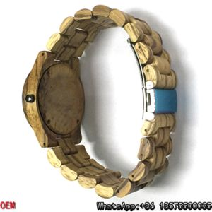 Top-Quality Zebra-Wooden Watches Date Quartz Watches Hl05 pictures & photos