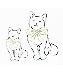 Heat Transfer Rhinestone Motif Paper Kitty Cat Design Hotfix Motif pictures & photos