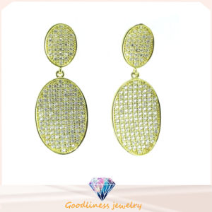 2015 Big Promotion Big Star Silver Round Earring Trendy Statement Gold & Silver Earrings Women Jewelry (E6420) pictures & photos