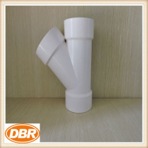 3 Inch Size Wye Type PVC Fitting pictures & photos