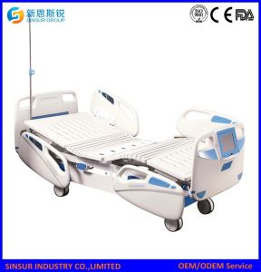 Hospital Furniture Electric 3-Shake/Crank Medical Nursing Bed pictures & photos