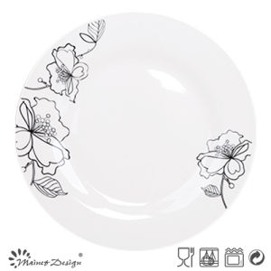 "10.5""Porcelain Dinner Plate with Decal pictures & photos"