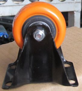 2 Inch Orange Fixed PU Caster for Warehouse pictures & photos