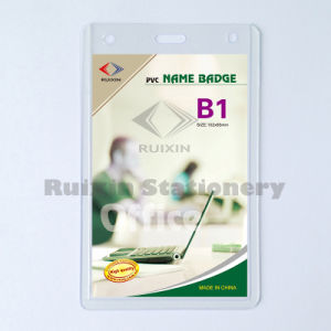 Factory Outlets Vertical PVC Name Badge