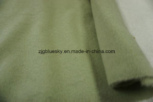 Double Faces Wool Fabric Light Green pictures & photos